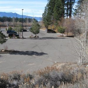 Parking lot before construction