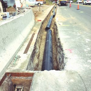 Installing 950' of pipe in the US-50 R/W