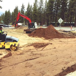 Building the infiltration basin