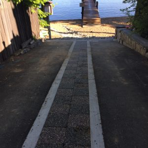 The completed Xeripave pavers and Foothill outfall