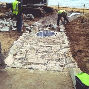 Building channel at the Church Outfall