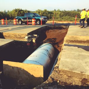 Arched Pipe Installation